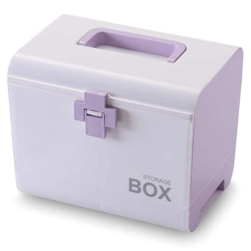 Medicine Box First Aid Box Storage Box Plastic Container First Aid Box Portable Multi-Layer Large Capacity Storage Storage Box P