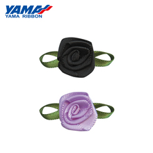 YAMA Foliage Tea Rose Flower Diameter 15mm±2mm Leaf 30mm±3mm 200pcs/bag Satin Ribbon for Baby Hair Bow Gift Decoration