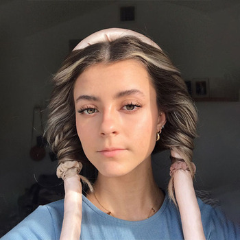 Lystrfac Slik Satin Heatless Hair Curler Headband for Women Hair Wrap Curling Ribbon Girls Scrunchies Headwear Hair Accessories 5