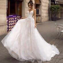 Кружевное Свадебное платье без рукавов с v образным вырезом