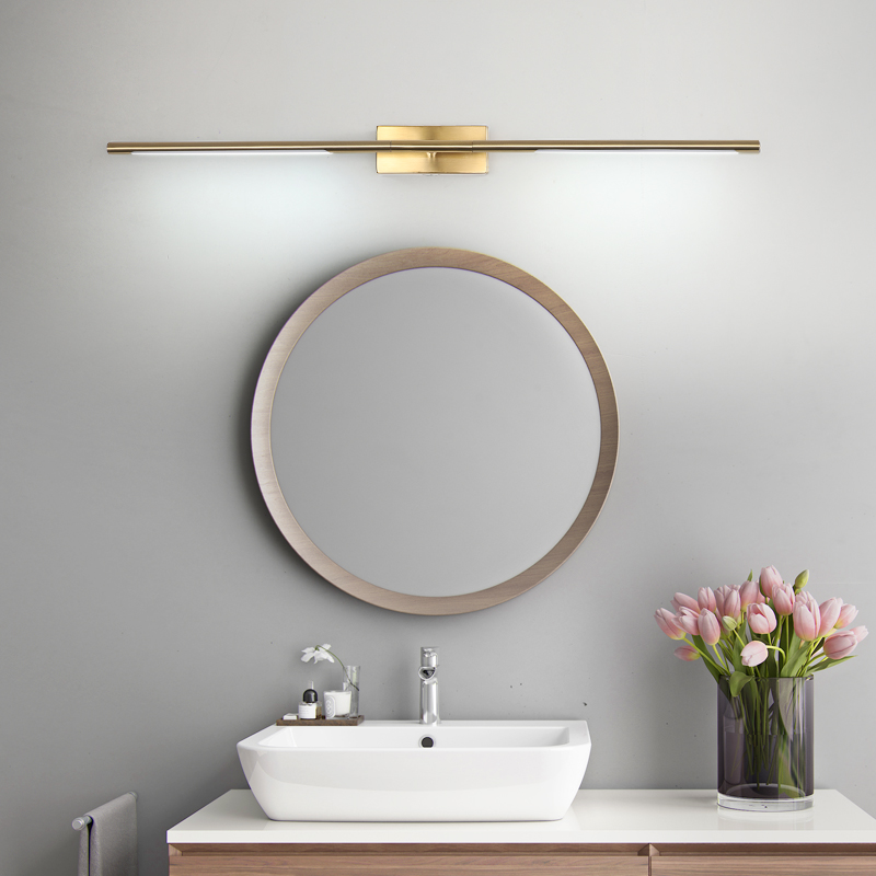 Gold Black Modern Led Mirror Light Ac90 260v Wall Mounted Mirror Lamp Bathroom Light Brushed Gold Makeup Front Mirror Lamp Wall Lamps Aliexpress