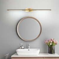 Luz Led moderna para espejos, lámpara de espejo montada en la pared, dorada y negra, AC90-260V, para baño, Oro pulido, maquillaje