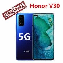 Honor-teléfono inteligente V30, 8GB de RAM, 128GB de ROM, Kirin 990, 7nm, ocho núcleos, 5G, GPU, Triple CÁMARA DE 40mp, 40W, carga rápida