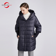 Padded Jacket Women Coat Hooded Spring Knitted Warm Autumn Fashion Cotton NEW MODERN