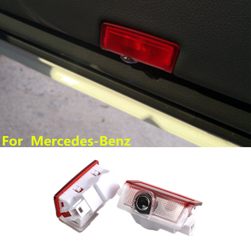For Mercedes Benz <font><b>W205</b></font> E A Class <font><b>AMG</b></font> 4MATIC ML300 W176 W212 W166 A180 <font><b>C200</b></font> Led Car Door Welcome Light Logo Laser Projector Lamp image