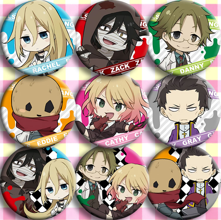 Japan Anime Angels Of Death AZCK DANNY Cosplay Badge 58mm Cartoon Brooch Pins Collection Bags Badges For Backpacks Button Gifts