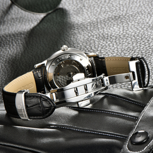 Image 5 - 2019 new Ultra thin simple classic men mechanical watches business waterproof watch luxury brand genuine leather automatic watch