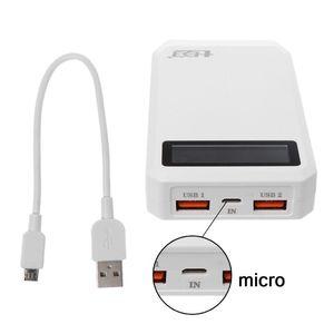Image 1 - (Bez baterii) podwójny USB QC 3.0 mocy wyjściowej 3x18650 baterie DIY opakowanie na Power Bank etui na uchwyt szybka ładowarka do telefonu komórkowego Tablet z funkcją telefonu PC
