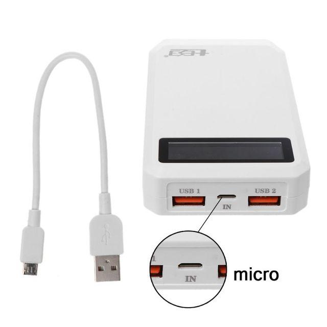 (Bez baterii) podwójny USB QC 3.0 mocy wyjściowej 3x18650 baterie DIY opakowanie na Power Bank etui na uchwyt szybka ładowarka do telefonu komórkowego Tablet z funkcją telefonu PC