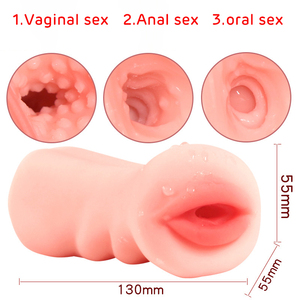 Vagina For Men Toy Sex Toys 4D Realistic Deep Throat Male Masturbator Silicone Artificial Vagina Mouth Anal Oral Sex Erotic 2020