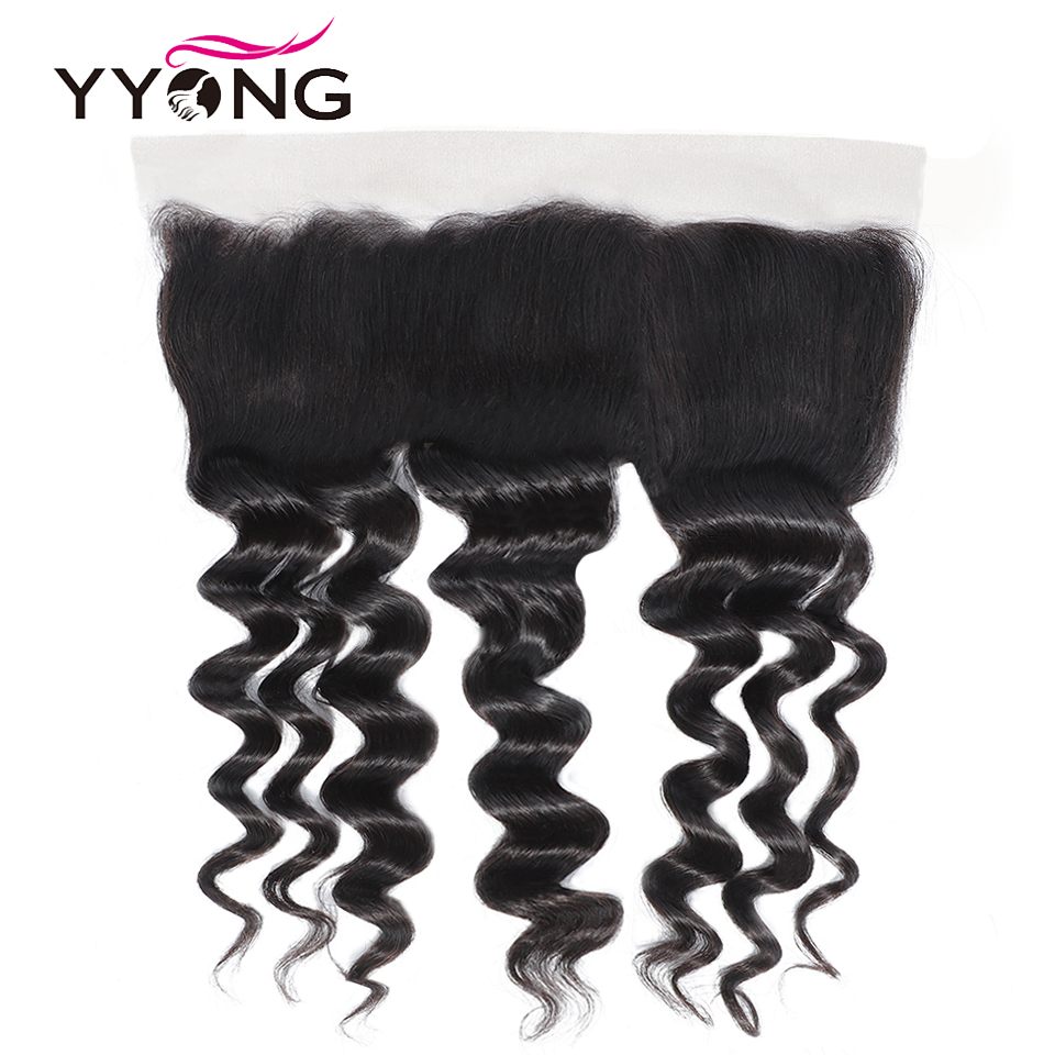 Newest 13x4 Ear To Ear Lace Frontal Closure With Bundles   Loose Deep Wave 8-30inch  Bundles With Frontal 5