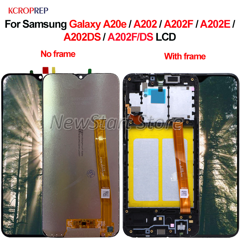 For Samsung Galaxy A20e A202 A202F A202E A202DS A202F/DS LCD Display Touch Screen Digitizer Assembly For Samsung A20e A202 lcd