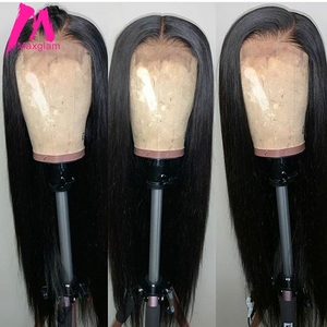 4x4 Lace closure wig straight Brazilian 28 30 inch front Human Hair Wigs Short for Black Women Pre plucked Long Frontal Remy