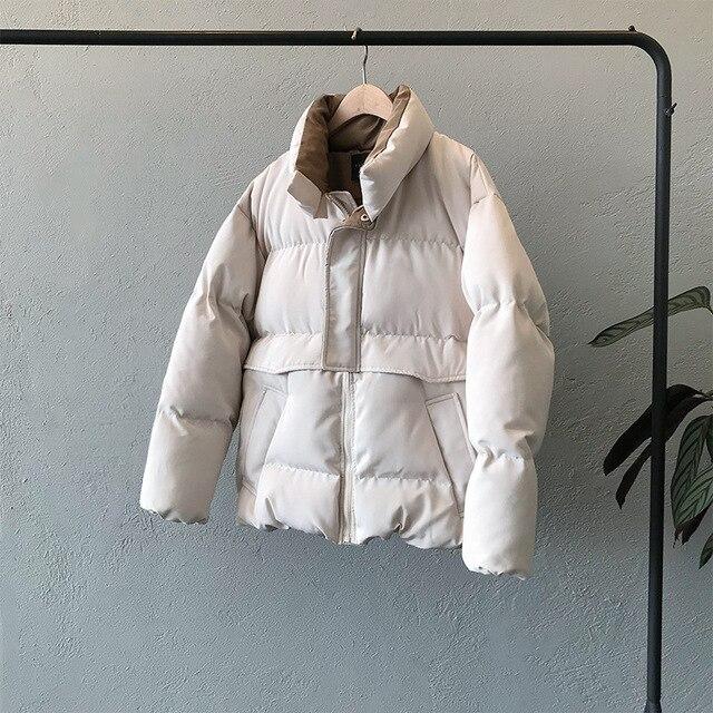 2020 femmes épais hiver manteau col montant femmes veste manteau surdimensionné manteau ample vêtements d'extérieur femme Casaco Feminino Parkas 4