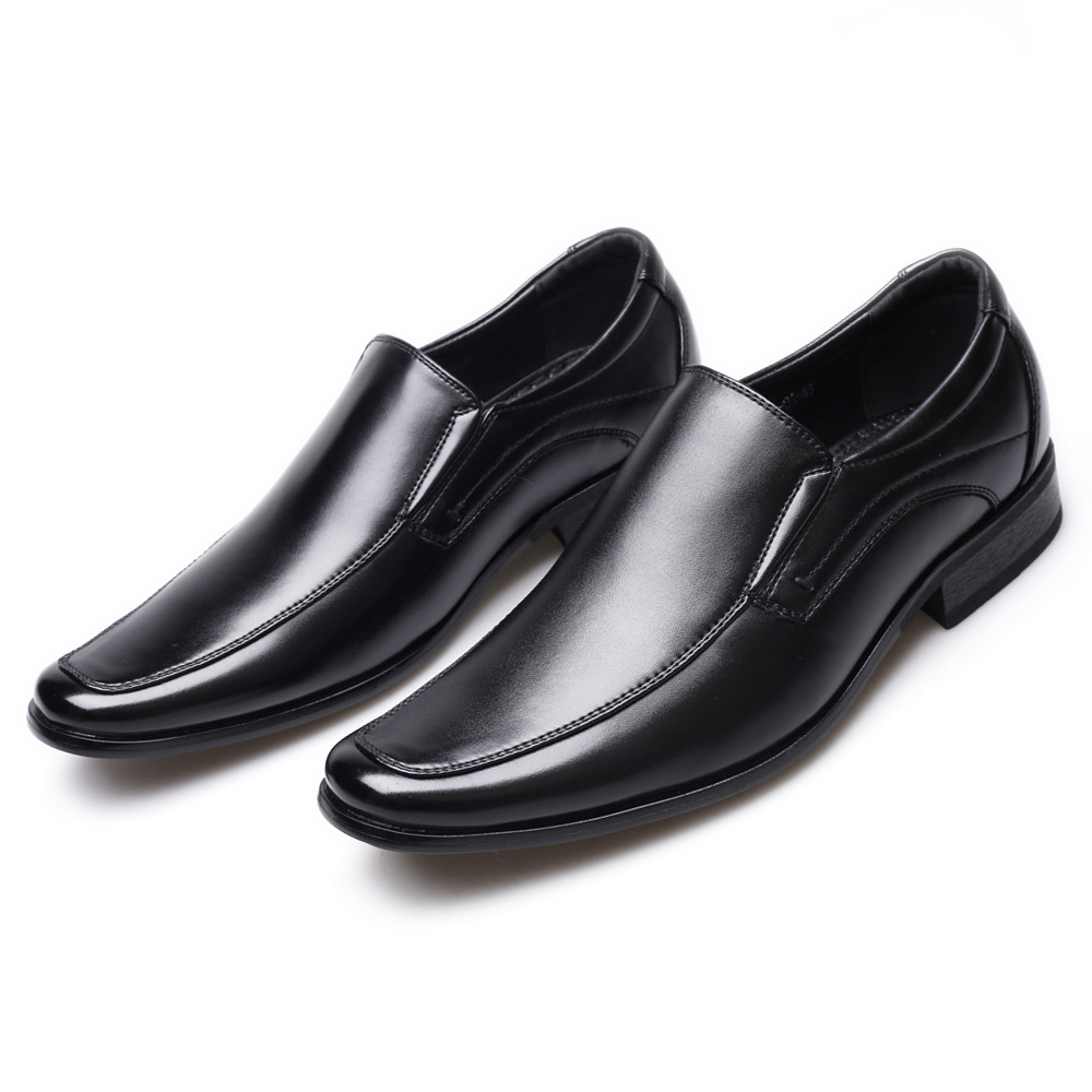 Image 4 - Classic Business Men's Dress Shoes Fashion Elegant Formal Wedding Shoes Men Slip On Office Oxford Shoes For Men Black B1375-in Formal Shoes from Shoes