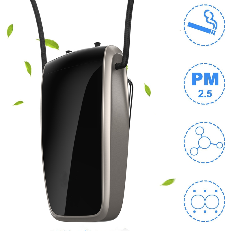 Portable Air Purifier, Necklace Wearable Purifier, Mini Travel Size USB Charging, Air Freshener Ionizer 9