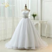 Hot Sale White Vestido De Noiva 2021 New Design A line Perfect Belt Robe De Mariage Strapless Lace Up Wedding Dresses OW 7799