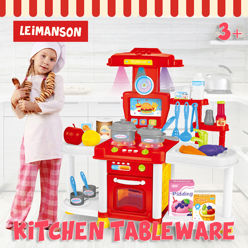 Funny Kids Kitchen Tableware Kitchen Toy Sets Early Education For Children Simulation Tableware For Birthday Gifts