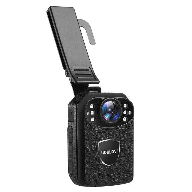Нательная камера Boblov KJ21 HD 1296P, видеорегистратор, камера безопасности, ИК Ночное Видение, носимые мини видеокамеры, Полицейская камера