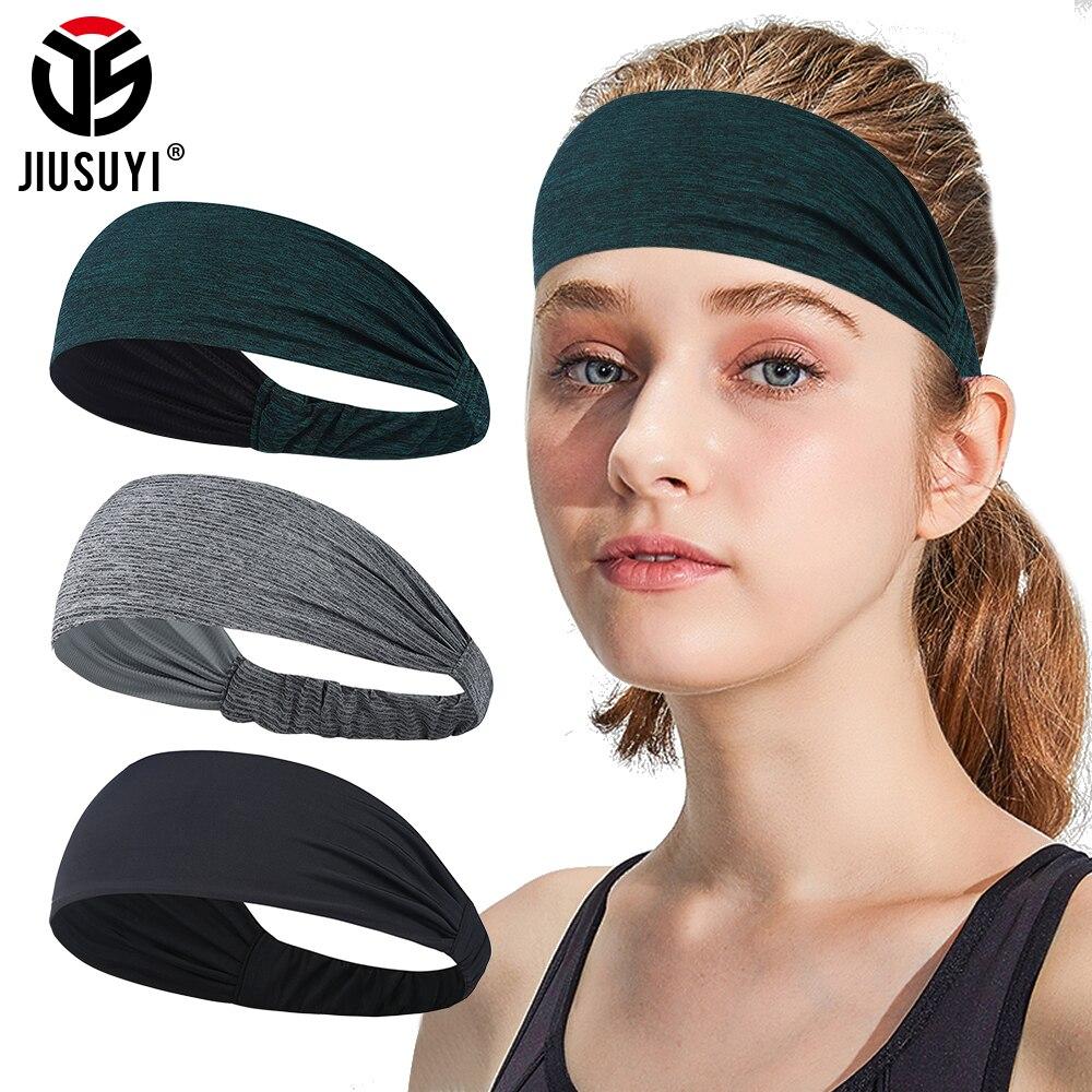 Soft Stretchy Sweatband Workout Yoga Headband Moisture Bandana Hair Sweat Band