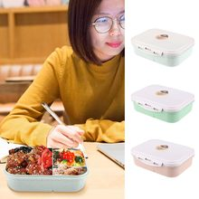 Lunchbox Picknick Sushi Fruit Voedsel Container Opslag Dozen Maaltijd Snack Verpakking 3 Compartiment Case Container Organizer 19SEP27(China)
