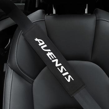 Nakładka na pas bezpieczeństwa w samochodzie stylizacja samochodu dla Toyota Avensis t25 t27 naklejki akcesoria stylizacja samochodu tanie i dobre opinie 26cm Cotton Uchwyty hamulca ręcznego Protective And Decoration Fit for Avensis