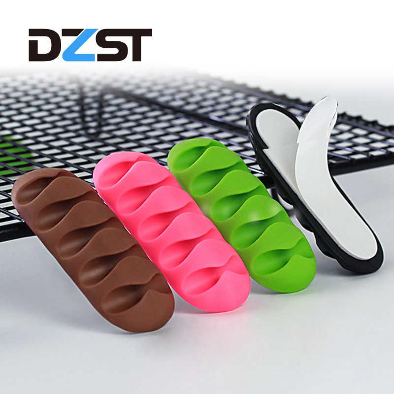 DZLST ケーブルオーガナイザー柔軟なシリコーン USB ケーブルキーボードマウスヘッドフォンのためのソフトケーブル管理クリップケーブルホルダー