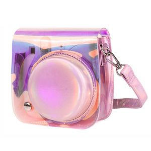 Image 2 - كاميرا Fujifilm Instax Mini 9 8 حافظة حقيبة شفافة مجسمة ليزر كاميرا فورية حزام الكتف حقيبة حامي غطاء الحقيبة