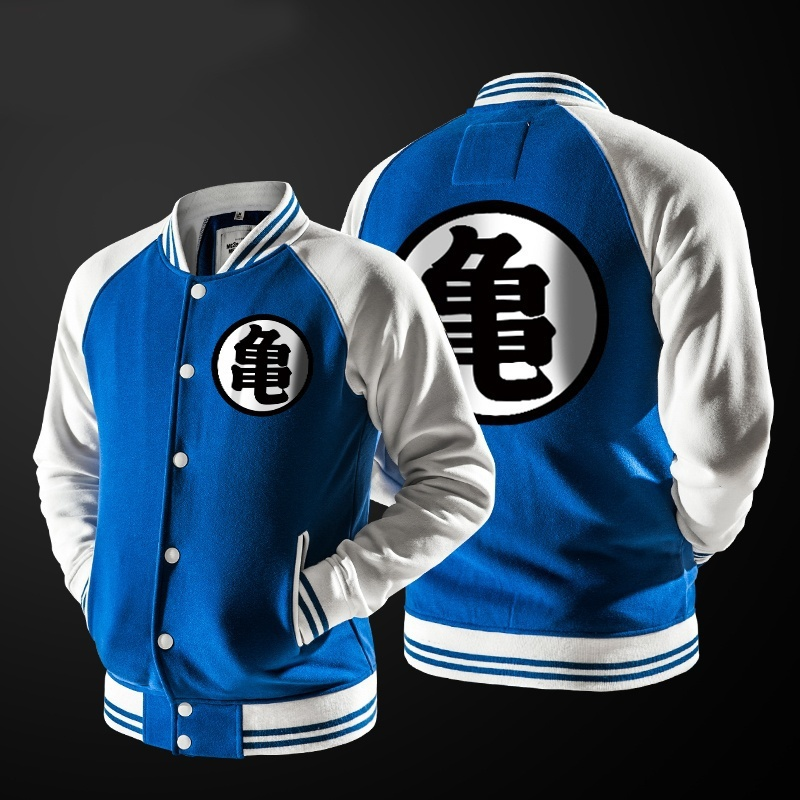 ZOGAA Anime Dragon Ball Goku Varsity Jacket Autumn Casual Sweatshirt Hoodie Coat Jacket Brand Baseball Jacket