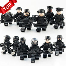 12pcs/set Military Special Forces Soldiers Bricks Figures Guns Weapons Compatible Legoings Armed SWAT Building Blocks Kids Toys(China)