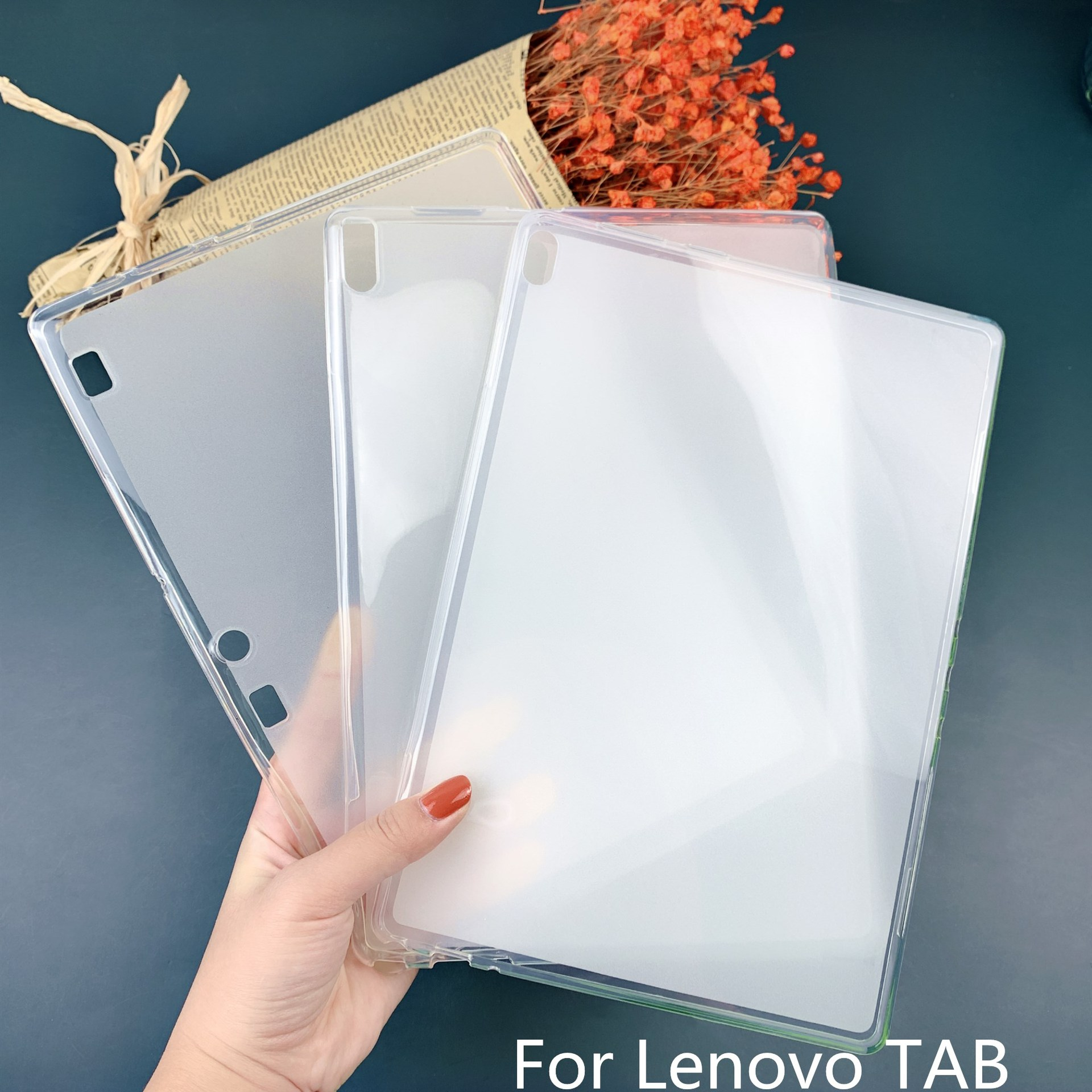 Clear Cover For <font><b>Lenovo</b></font> <font><b>Tab2</b></font> <font><b>A7</b></font>-<font><b>10F</b></font> 20F 30TC tab3 TB-X70F X30F Transparent TPU Silicone Back Case For Tab4 7504f X504F X304F 8504 image