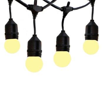Thrisdar 15M 15LED E27 bombillas de globo de Navidad Cadena de luz comercial para patio trasero Bistro café boda colgante Garland Luz