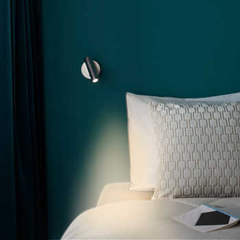 ZEROUNO wall Mounted Bedside Reading Lamp LED Wall Light indoor Hotel Guest Room bed room Headboard book read Light with switch
