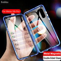 Magnetic Adsorption Case for Meizu 16s Pro 16T Double Sided Tempered Glass Full Protect Case for  Meizu 16s Pro 16T