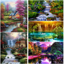 Waterfall DIY 5D Diamond Painting Full Square/Round Mosaic Resin Landscape Diamont Embroidery Cross Stitch Kits Home Decor Gift