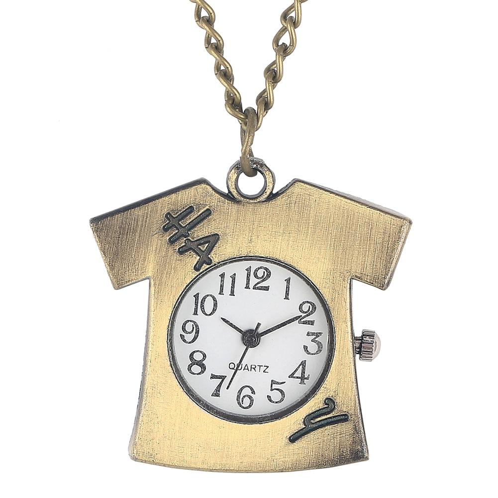 Distinct Clothes Model Quartz Pocket Watch Small Arabic Numerals Dial Pocket Watches Classic Slim Hanging Chain Pendant Clock
