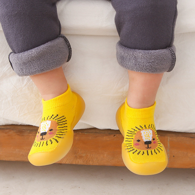 Unisex Baby Shoes First Shoes Toddler First Walkers Boy Soft Sole Rubber Outdoor Baby Shoes Cute Animal Baby Booties Anti-slip