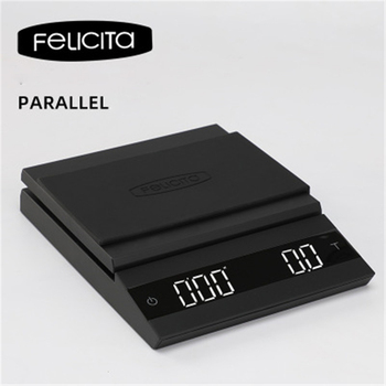Felicita Parallel Coffee Scale White Black Smart Electronic Scale Bluetooth Hand Punch Drip Coffee Scale with Timer 2KG