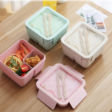 Lunch Box For Wheat Straw Japanese Style Container Sealing Tape Spoon Chopsticks Microwave-Style Lunch Box dihe wheat straw skid resistance lengthen stewed noodles chopsticks