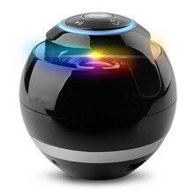 Altavoz Bluetooth de bola con luz LED mini altavoz inalámbrico portátil Celebración de Navidad MP3 subwoofer soporte tarjeta TF