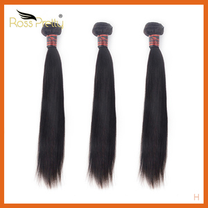 Long Hair 8inch to 36inch Ross Pretty Remy Brazilian Straight Hair Bundles Human hair weave bundle Natural Color black(China)