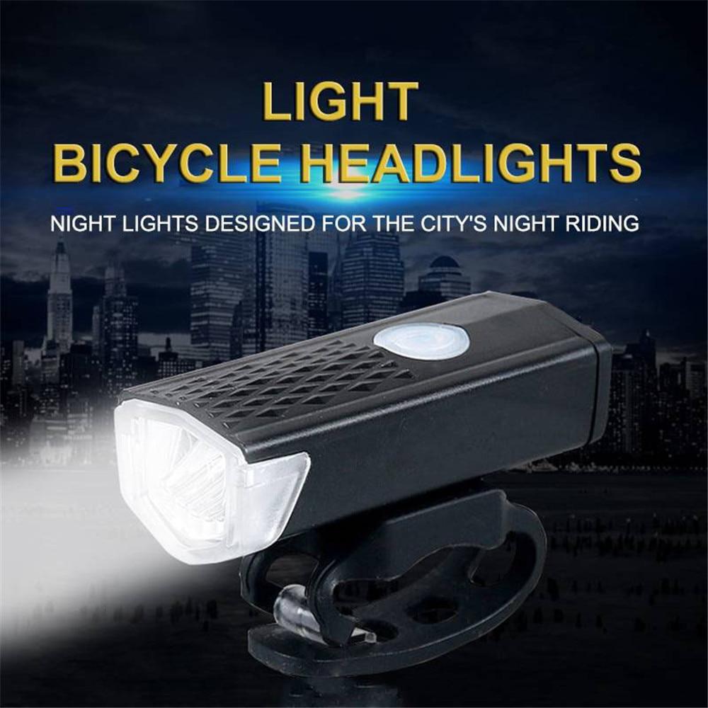 USB Rechargeable Bicycle Lights Bike Headlight Cycling Front Lights Waterproof Bicycle Flashlight Bike Light Warning Lights