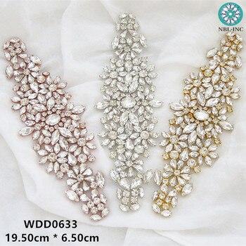 (1PC) Rhinestones bridal belt diamond gold wedding dress crystal sash for accessories WDD0633 - sale item Wedding Accessories