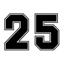 Ck3262 # racing número 25 engraçado etiqueta do carro decalque do vinil à prova dwaterproof água adesivos de automóvel para pára-choques janela traseira