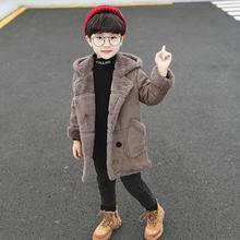 Новая зимняя детская шерстяная куртка с капюшоном из бархата для мальчиков детское плотное теплое флисовое шерстяное пальто из искусственной замши верхняя одежда B06
