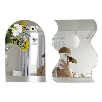 ins Hot Sale Wavy Makeup Beauty Mirror Acrylic Sheet Irregular Edge Desktop for Decorative Craft Projects