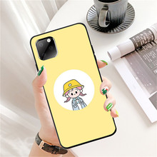 Cute Case for Iphone 11 Pro Max XR Ip7 8Plus 6s 11 Korea Style Cartoon Tpu Silicon Black Cover 360 Full Protective Back Cover cute cartoon owl style protective plastic back case for iphone 5c light yellow multicolor