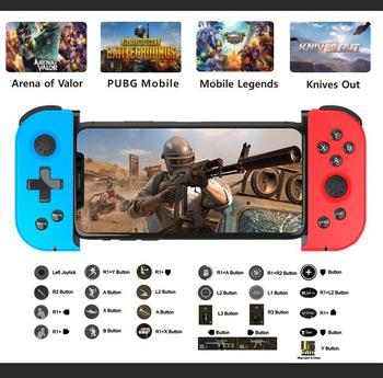Bluetooth Game Controller Gamepad Wireless Gamepad Telescopic Gamepad Joystick PUGB Mobile Game for IOS android tablet gamepad