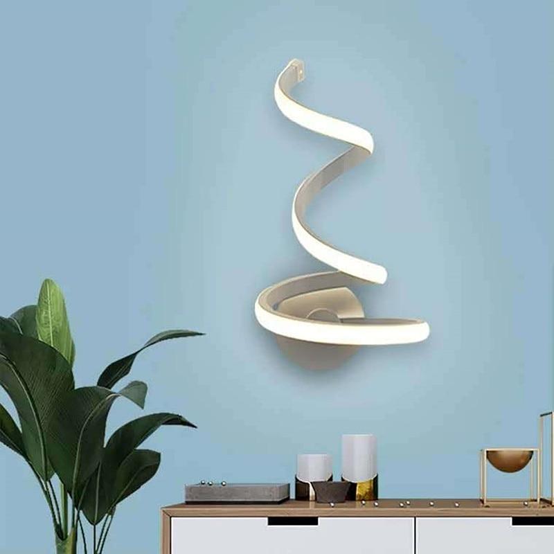 nordic onda forma lampada de parede casa 02