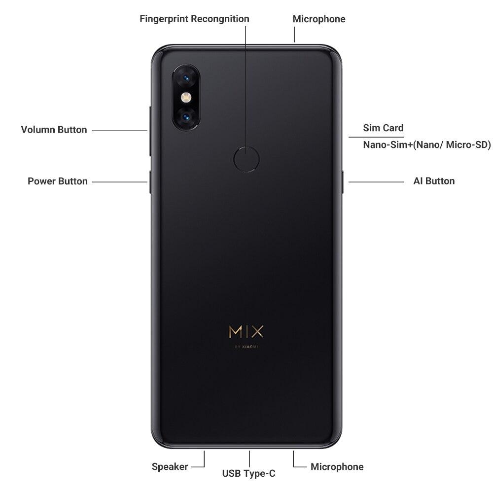 Globale Rom Xiao Mi Mi Mi X 3 8 Gb di Ram 256 Gb di Rom Snapdragon 845 Octa Core 24MP 6.39 a Schermo Intero Qi Wireless di Ricarica Del Cellulare - 3